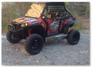 Polaris RZR CreatorX Graphics Bolt Thrower Red 004