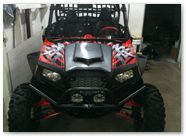 Polaris RZR CreatorX Graphics Bolt Thrower Red 005