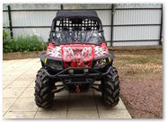 Polaris RZR CREATORX Graphics Bolt Thrower Red 2