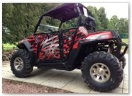 Polaris RZR CREATORX Graphics Bolt Thrower Red 3