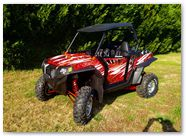 Polaris RZR CreatorX Graphics Rockin 80s Red 001