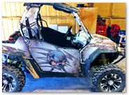 Polaris RZR CreatorX Graphics Skulls n Bolts 001