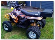 Polaris Scrambler CreatorX Graphics Bolt Thrower Orange 08b