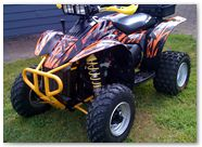 Polaris Scrambler CreatorX Graphics Bolt Thrower Orange 09b