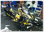 Ski-Doo Rev XM CREATORX Graphics Skull Chief Yellow 1