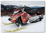Ski-Doo Rev XM CreatorX Graphics SpiderX Orange 004