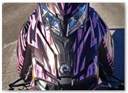 Ski-Doo Rev XM CreatorX Graphics Tribal Madness Pink Lite 001