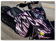 Ski-Doo Rev XM CreatorX Graphics Tribal Madness Pink Lite 003