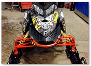 Ski-Doo Rev XP CreatorX Graphics Danger Zone Yellow 01