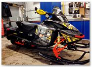 Ski-Doo Rev XP CreatorX Graphics Danger Zone Yellow 02