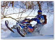 Ski-Doo Rev XP CreatorX Graphics Little Sins Blue Ice 009