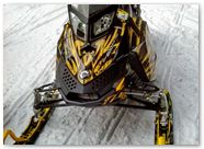 Ski-Doo Rev XP CreatorX Graphics Tribal Madness Yellow 001