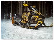 Ski-Doo Rev XP CreatorX Graphics Tribal Madness Yellow 004