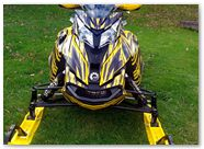Ski-Doo Rev XS CreatorX Graphics Tribal Madness Yellow 001