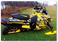 Ski-Doo Rev XS CreatorX Graphics Tribal Madness Yellow 002