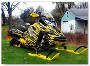 Ski-Doo Rev XS CreatorX Graphics Tribal Madness Yellow 003