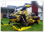 Ski-Doo Rev XS CreatorX Graphics Tribal Madness Yellow 004