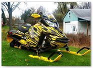 Ski-Doo Rev XS CreatorX Graphics Tribal Madness Yellow 005