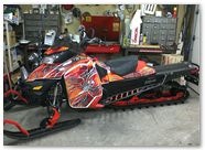 Ski-Doo RevXM CreatorX Graphics SpiderX Orange 01