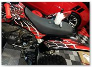 Yamaha Raptor 350 CreatorX Graphics Kit SpiderX Red 001