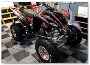 Yamaha Raptor 350 CreatorX Graphics Kit SpiderX Red 002