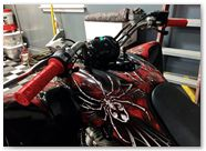 Yamaha Raptor 350 CreatorX Graphics Kit SpiderX Red 003