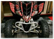 Yamaha Raptor 350 CreatorX Graphics Kit SpiderX Red 004
