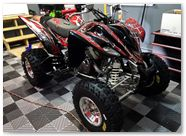 Yamaha Raptor 350 CreatorX Graphics Kit SpiderX Red 005