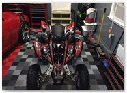 Yamaha Raptor 350 CreatorX Graphics Kit SpiderX Red 007