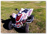 Yamaha Raptor 350 CreatorX Graphics SpiderX Red White 002