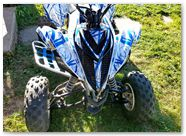 Yamaha Raptor 700 2013 CREATORX Graphics Samurai Blue White 1