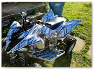 Yamaha Raptor 700 2013 CREATORX Graphics Samurai Blue White 2