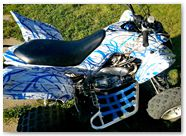 Yamaha Raptor 700 2013 CREATORX Graphics Samurai Blue White 3