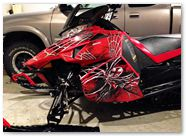 Yamaha Viper CreatorX Graphics SpiderX Red