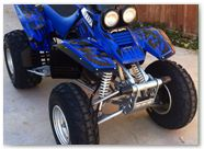 Yamaha Warrior 350 CREATORX Graphics Tribal Madness Blue 1