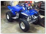 Yamaha Warrior 350 CREATORX Graphics Tribal Madness Blue 3