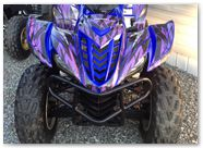 Yamaha Wolverine 06-10 CREATORX Graphics Kit Bolt Thrower Purple 1