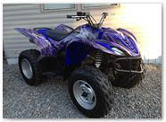Yamaha Wolverine 06-10 CREATORX Graphics Kit Bolt Thrower Purple 2