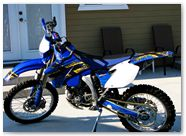 Yamaha WR250 WR450 CreatorX Graphics Kit TribalX Yellow Blue 001