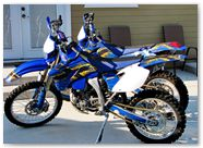Yamaha WR250 WR450 CreatorX Graphics Kit TribalX Yellow Blue 002