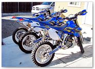 Yamaha WR250 WR450 CreatorX Graphics Kit TribalX Yellow Blue 003