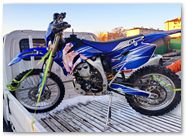 Yamaha WR250 WR450 CreatorX Graphics Kit You Rock Blue 001