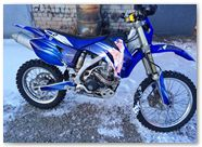 Yamaha WR250 WR450 CreatorX Graphics Kit You Rock Blue 004