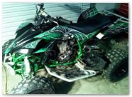 Yamaha YFZ 450 03 08 CreatorX Graphics SpiderX Green