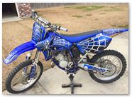 Yamaha YZ125 CreatorX Graphics SpiderX Blue 01