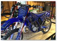 Yamaha YZ125 CreatorX Graphics SpiderX Blue 02