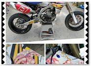 Yamaha YZ450F 2010 CREATORX Graphics Kit Little Sins White 2