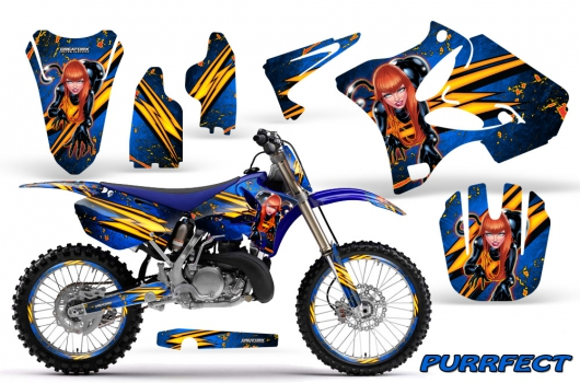 YAMAHA YZ 125 250 2006-2012 BLUE BULL MX MOTOCROSS DECAL KIT