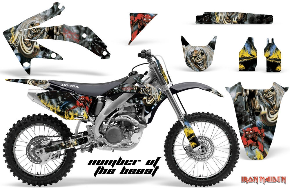 Iron Maiden Mx Graphic Decal Dirt Bike Kit Honda
