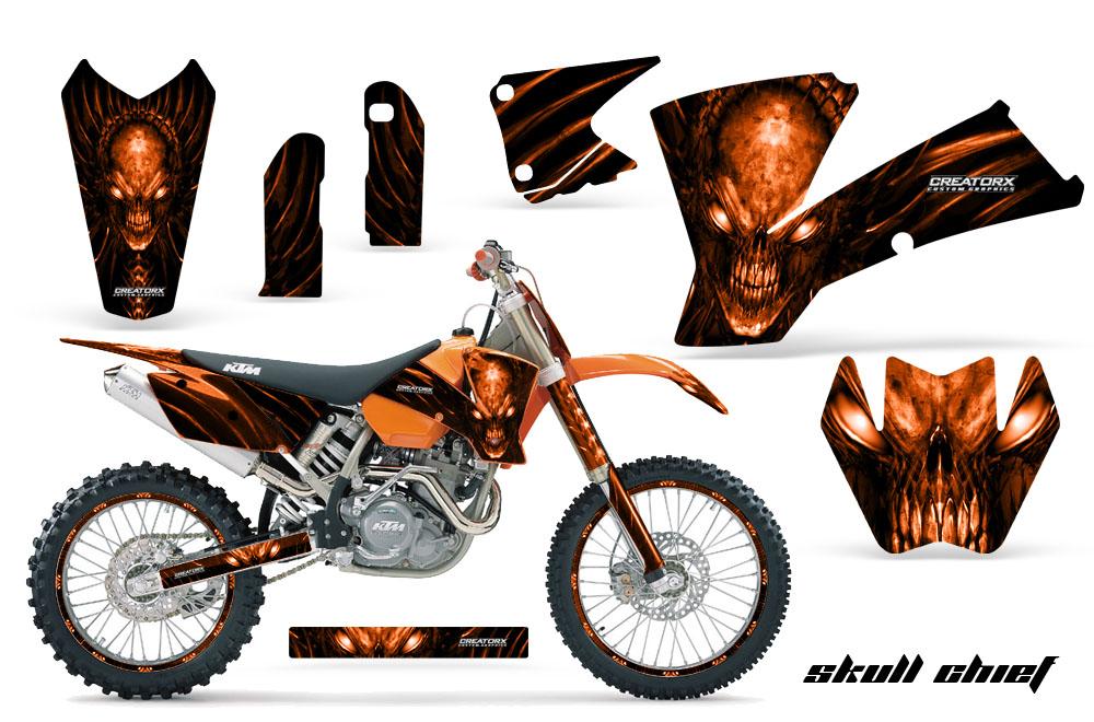 SKULL CHIEF CREATORX CUSTOM Dirt Bike Graphics Kits For HONDA - Decal graphics for dirt bikes